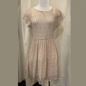 Anthropologie Rose Polka Dot Dress 40798U - 15